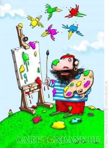 Карикатура: Painter man, Наместников Юрий