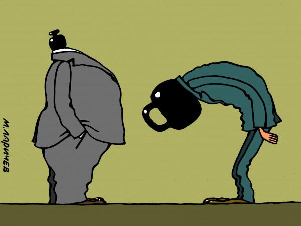 Карикатура: вес, михаил ларичев