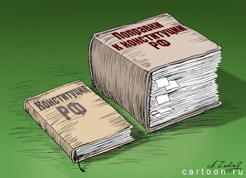 Карикатура: Поправки, Александр Зудин