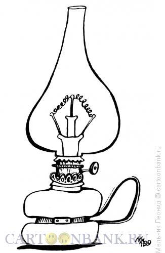 Карикатура: Волшебная лампа Ильича, Мельник Леонид