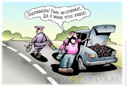 Карикатура: Руль отобрал, Кийко Игорь