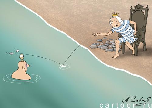 Карикатура: Королевский завтрак, Александр Зудин