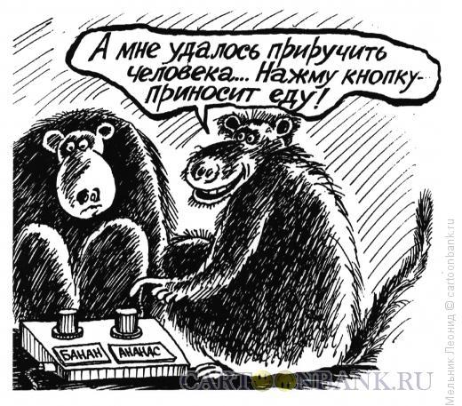 Карикатура: Дрессировка, Мельник Леонид