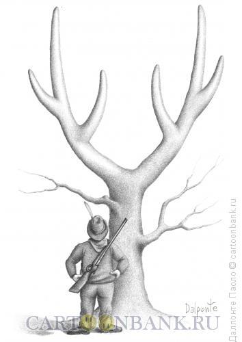 Карикатура: hunter, Далпонте Паоло