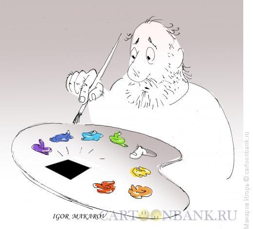 Карикатура: черный квадрат 5, Макаров Игорь