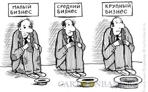 Карикатура: Проблемы бизнеса, Семеренко Владимир