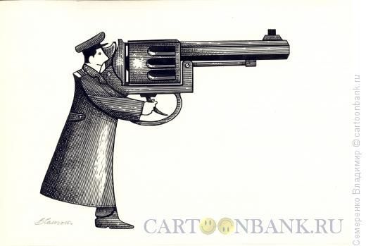 Карикатура: Человек - оружие, Семеренко Владимир