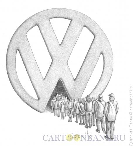 Карикатура: immigration, Далпонте Паоло