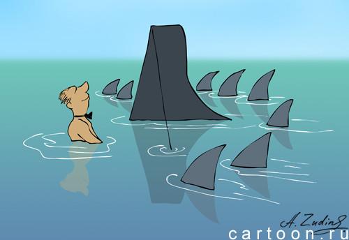 Карикатура: Арпеджио на рейде, Александр Зудин