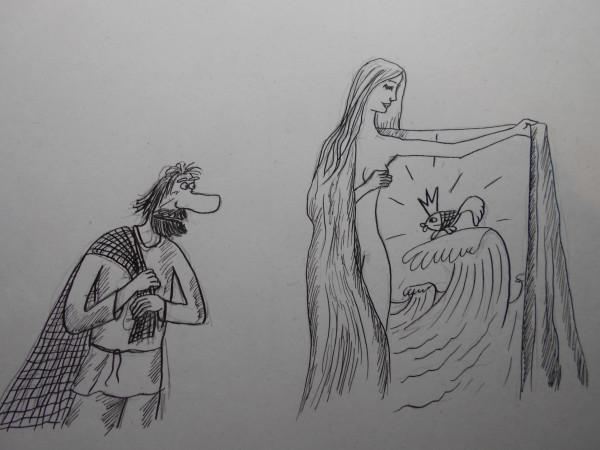 Карикатура: Женщина с покрывалом 29, Петров Александр