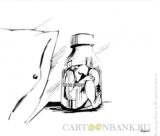 Карикатура: В баночке со снотворным, Богорад Виктор