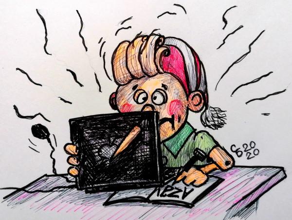 Карикатура: Буратино наудаленке, Serrega
