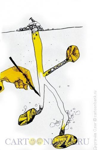 Карикатура: Все по норкам!, Дергачёв Олег