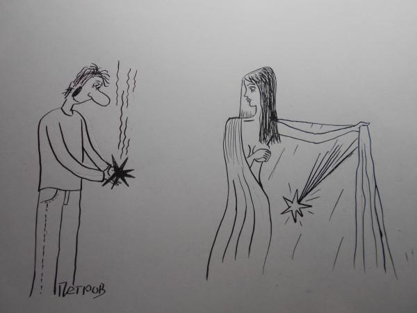 Карикатура: Погасшая звезда, Петров Александр