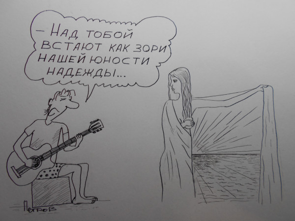 Карикатура: женщина с покрывалом  30, Петров Александр
