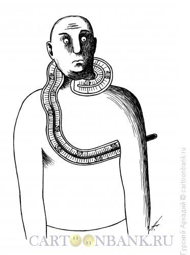 Карикатура: термометр на шее, Гурский Аркадий