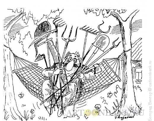 Карикатура: Дачный сезон, Богорад Виктор