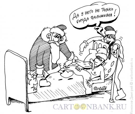 Карикатура: жалоба от снегурочки, Кононов Дмитрий