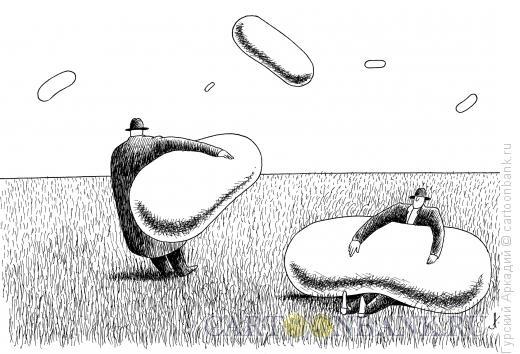 Карикатура: аэростаты, Гурский Аркадий
