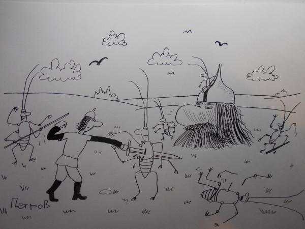 Карикатура: Тараканы из головы, Петров Александр
