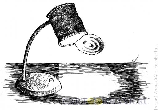 Карикатура: настольная лампа, Гурский Аркадий