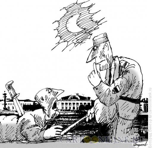 Карикатура: Тишина, Богорад Виктор