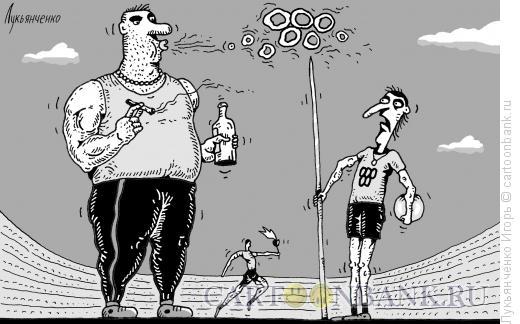 Карикатура: Олимпийские кольца, Лукьянченко Игорь