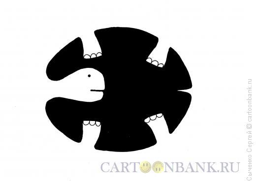 Карикатура: Черепаха, Сыченко Сергей