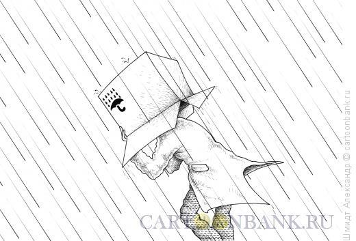 Карикатура: Не допускать намокания (ч/б), Шмидт Александр