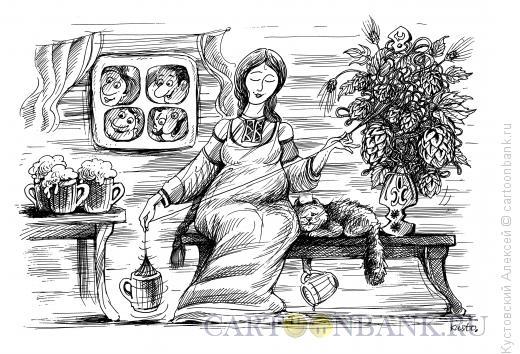 Карикатура: пивное веретено, Кустовский Алексей
