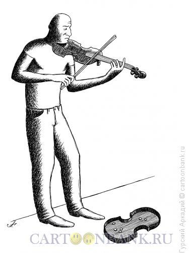 Карикатура: скрипач на халтуре, Гурский Аркадий