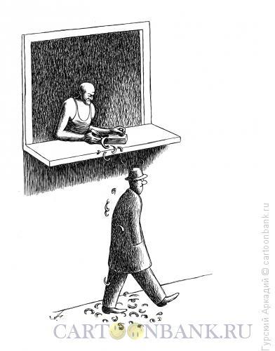 Карикатура: строгание подоконника, Гурский Аркадий