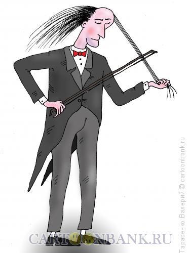 Карикатура: Грустная музыка, Тарасенко Валерий