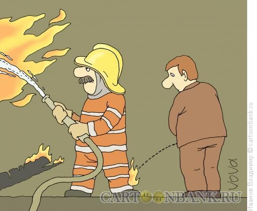 Карикатура: Добровольный помощник, Иванов Владимир