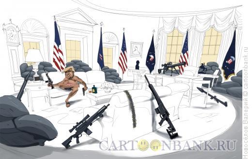 Карикатура: прописка в белом доме, Новосёлов Валерий