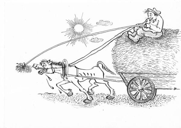 Карикатура: Экономика должна быть экономной!, Зеркаль Николай Фомич