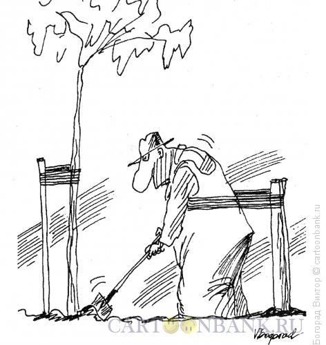 Карикатура: Садовник, Богорад Виктор