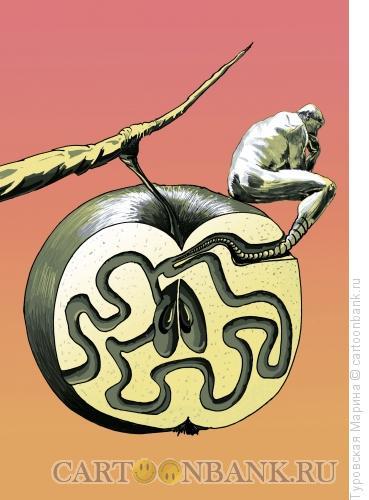 Карикатура: Червь сомнения, Туровская Марина