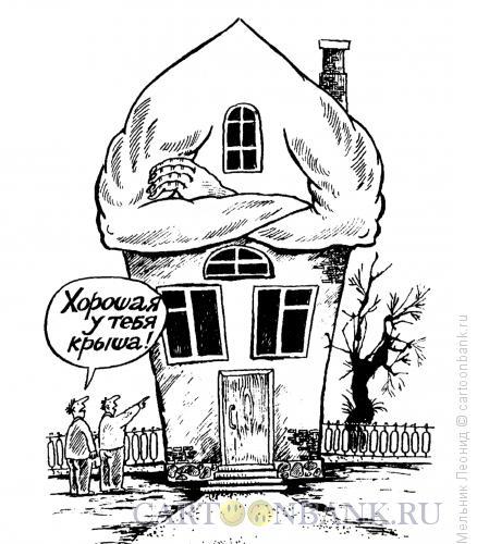 Карикатура: Крыша, Мельник Леонид