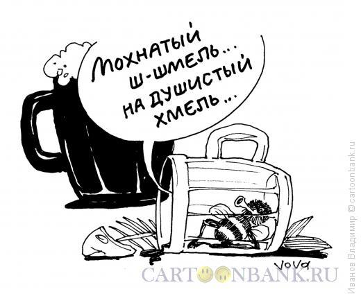 Карикатура: Мохнатый шмель, Иванов Владимир