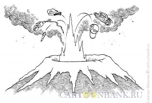 Карикатура: Горячие новости, Смагин Максим