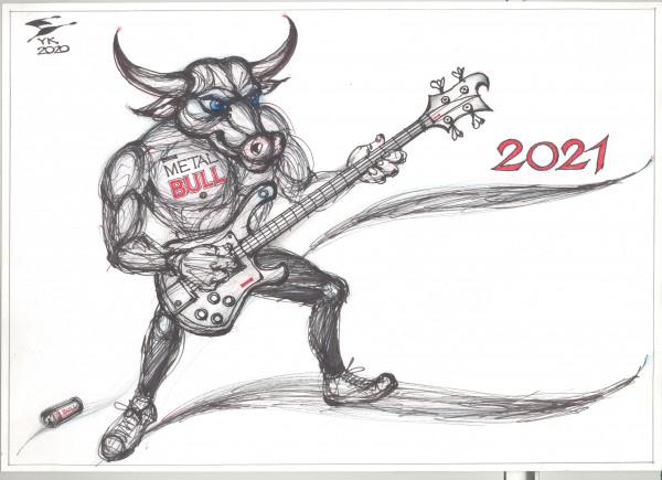 Карикатура: METAL BULL 2021 ., Юрий Косарев