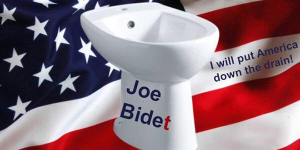 Мем: Joe Bidet, I will put America down the drain, again, AntiDuck