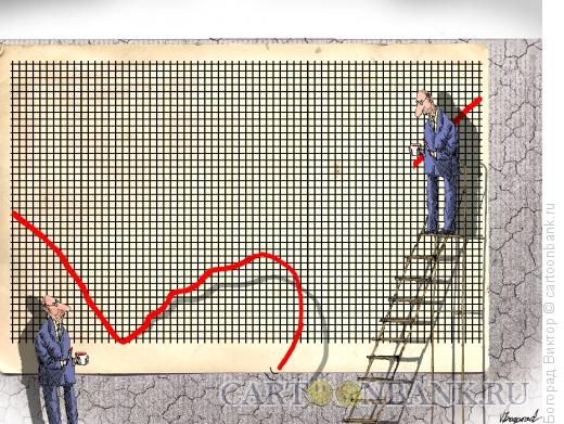 Карикатура: Лопнувший график, Богорад Виктор