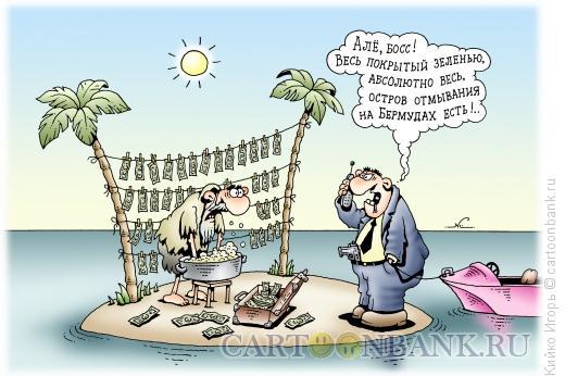 Карикатура: Остров отмывания, Кийко Игорь
