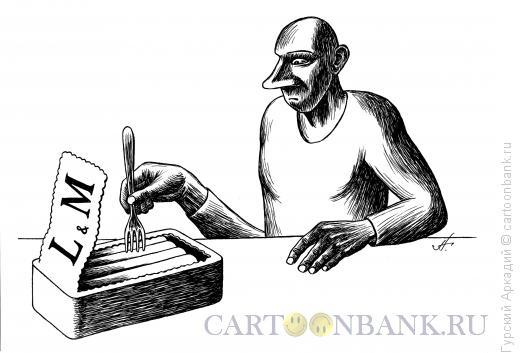 Карикатура: сигареты в банке, Гурский Аркадий