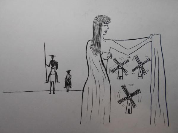 Карикатура: женщина с покрывалом36, Петров Александр