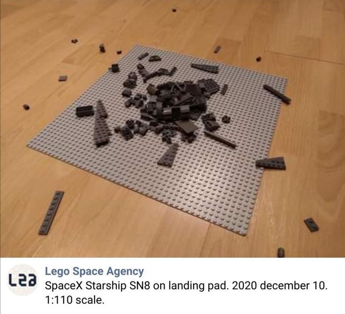 Мем: SpaceX Starship SN8, 10 декабря 2020