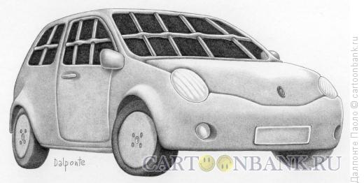 Карикатура: Машина-тюрьма, Далпонте Паоло