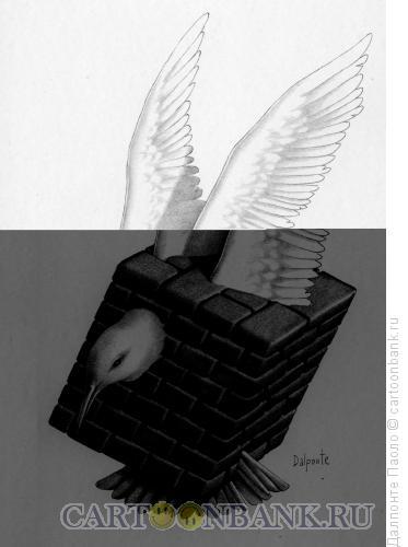 Карикатура: Птица в стене, Далпонте Паоло